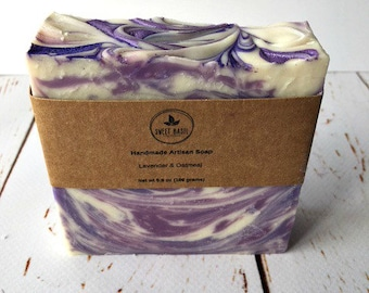 Lavender Oatmeal Soap, Lavender Soap, Handmade Soap, Artisan Soap, Homemade Soaps, Vegan Soap, Vegan, Homemade Birthday Gifts