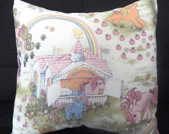 Vintage My Little Pony Fabric Cushions - Handmade by Alien Couture