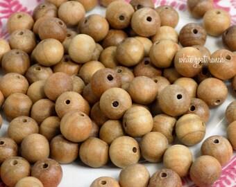 Sandelholz Perlen, 8mm, lose Perlen, Gebetskette, Mala Perlen, Holzperlen, 108 Perlen