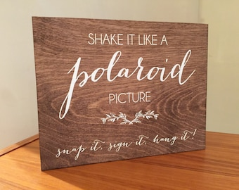 Photo Guestbook Sign - Wooden Wedding Signs - Wood