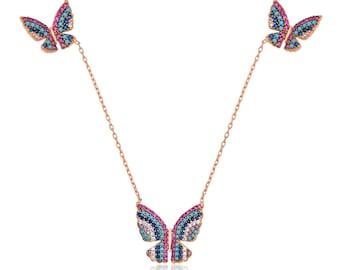 Flying Butterfly Pendant Silver - IJ1-1937