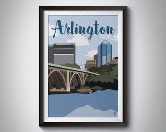 Arlington Travel Poster | Instant Download