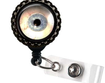 Eyeball - Black Retractable Badge Reel ID Holder