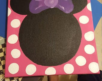 Minnie mouse inspired canvas