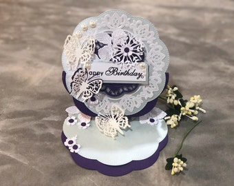 3D handmade easel Happy Birthday card