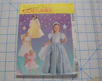 """McCall's Costumes Pattern #9454 """"Girl's Princess & Angel"""" Sizes 7, 8"""