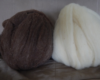 Wool Roving - dyeable, excellent for spinning, felting or any fiber art craft
