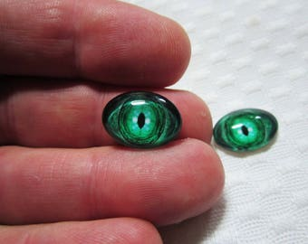 green dragon eyes,18x13mm cabochon,small oval glass cabochons