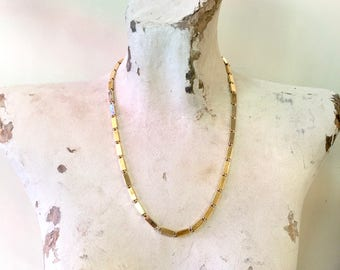 Vintage Gold Tone Monet Necklace | Monet Jewelry | Vintage Necklace | Gold Tone Jewelry | Gold Link Necklace | Holiday Gift Idea |