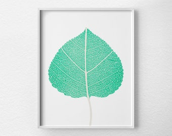 Leaf Print, Leaf Art, Leaf Decor, Tropical Print, Leaf Skeleton, Botanical Print, Botanical Poster, Tropical Art, Botanical Wall Art