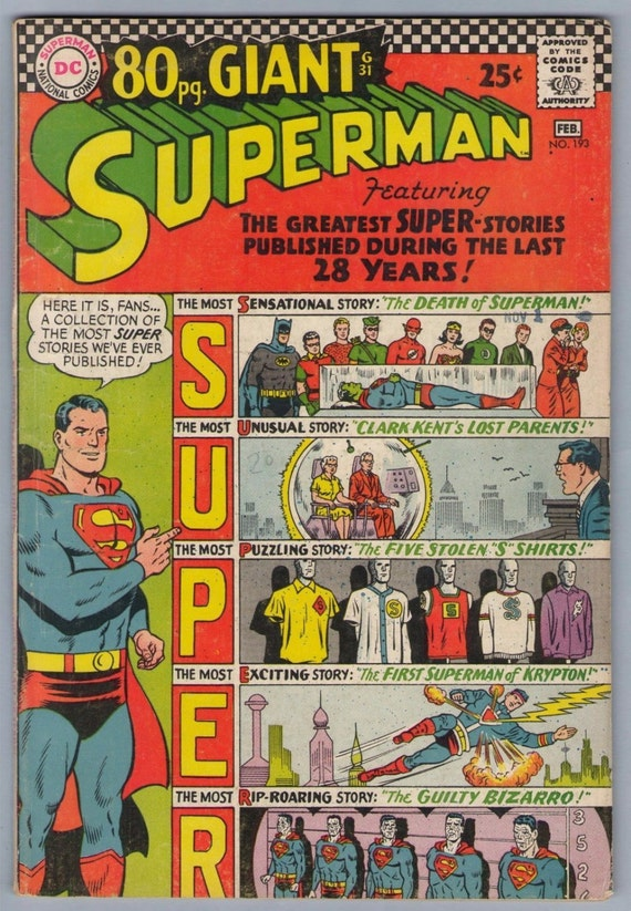 Superman 193 Feb 1967 VG (4.0)