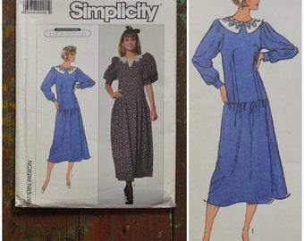 "Vintage Pattern, 1980's Sewing pattern, Simplicity 8164 dressmaking pattern, Jane Schaffhausen Belle France dress pattern, Euro 44 / 16, 38"""