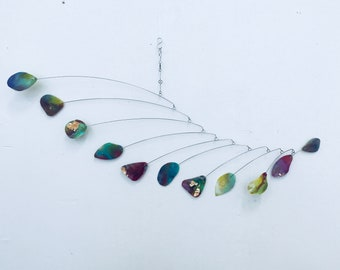 Large Hanging Mobile Art - READY TO SHIP - Great for Low Ceilings - Made With Organic Shapes and Interesting Textures