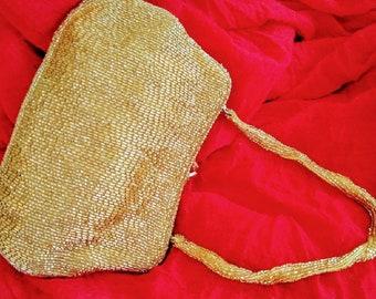 Walborg Gold Beaded Evening Bag