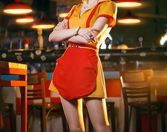2 Broke Girls cosplay costume Max Black Caroline Channing