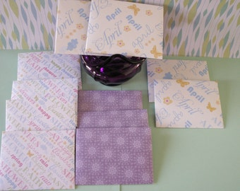 11-3 by 4 inch envelopes, spring envelopes, holiday envelopes, easter envelopes, april envelopes