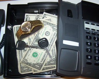 Office Phone Hide~A~Stash ~~ Desk Phone ~ Stash Box ~ Secret Storage Unit ~ Business Card Holder