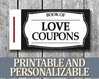Printable love coupon book boyfriend birthday gift printable love coupon book anniversary gift for boyfriend diy birthday gift for man last minute gift for husband anniversary for him solutioingenieria