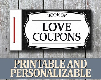 Printable love coupon book boyfriend birthday gift printable love coupon book anniversary gift for boyfriend diy birthday gift for man last minute gift for husband anniversary for him solutioingenieria Gallery
