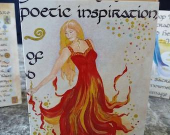Goddess Brigid Card, Blank Greeting Card, Made in Ireland
