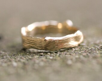 Branch / Twig Ring / Band 14k Y Gold
