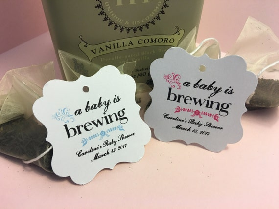 Baby Shower Favors Labels ~ Baby shower favor tags thank you favor tags bridal tea baby