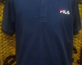 Vintage FILA / polo shirt / small embroidery logo / Medium size