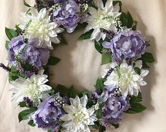 Spring Wreath - Front Door Wreaths - Purple Wreaths -  Spring Wreaths - Spring Wreaths for Front Door - Summer Wreaths - Front Door Wreaths