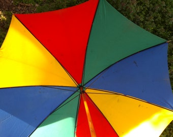 Umbrella Vintage Umbrella Retro Umbrella Rainbow Umbrella