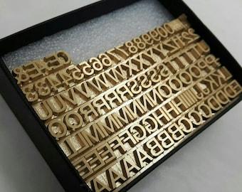 Brass Type 22Pt HELVETICA MEDIUM 100 pieces