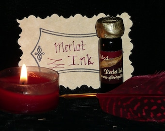 Merlot SCENTED Burgundy Magic INK for Quills and Dip Pens