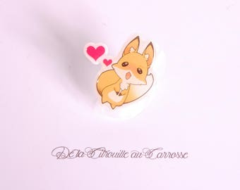 Kawaii fox ring, hearts