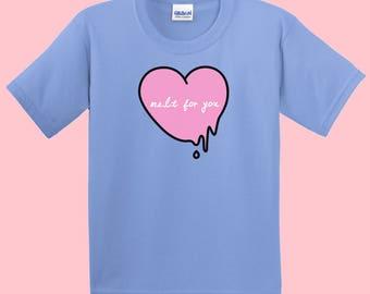 Melt for you shirt, harajuku shirt, vaporwave shirt, pastel goth shirt, seapunk shirt, soft grunge shirt, aesthetic shirt, kawaii, tumblr
