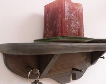 Key Holder Shelf, Key Rack, Entryway Shelf, Antique Grey