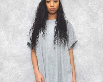 Grey Ovesized Boyfriend T-Shirt Dress
