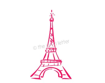 Paris Eiffel Tower Vinyl Wall Girl Bedroom Nursery Decal Sticker