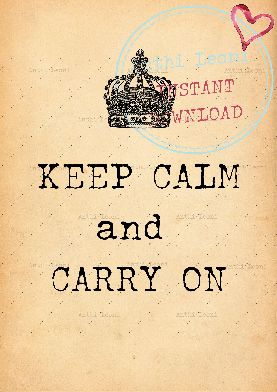 Keep Calm Printable | Keep Calm and Carry On | Office Decor | Cute ...