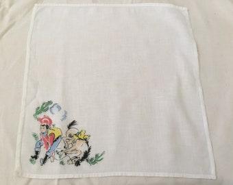 Vintage Handkerchief / Cowboy