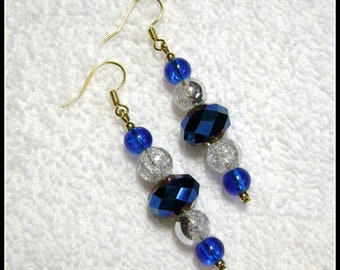 Bright Blue Earrings - Blue Ocean Hues - Dangle Earring - E232