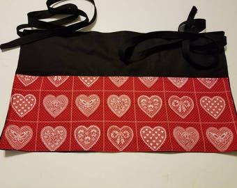Lacey Hearts Waitress/Teacher/Vender/Server/Half Apron