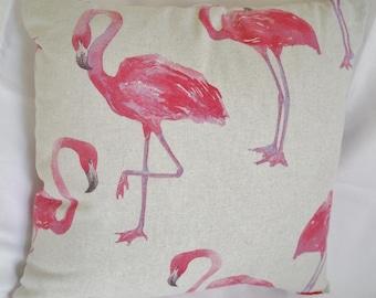 Flamingo cushion, flamingo pillow
