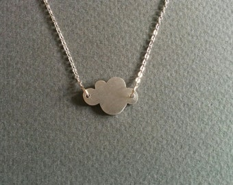 Cloud. Dainty charm necklace.