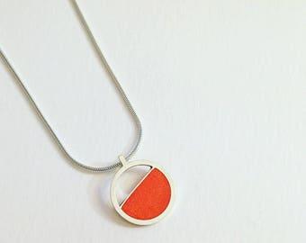 Orange Resin Pendant