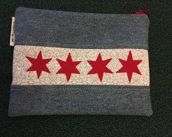 Chicago Flag zipper pouch