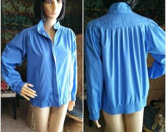 80's Glacier Bay Jacket, Blue 80's Jacket, Glacier Bay A Division of Pacific Trail Jacket, Blue Spring Coat, Blue Spring Jacket, SM