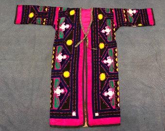 Plus size black high quality unisex uzbek pure natural silk handmade embroidery on jacket chapan elegant kaftan coat suzani style 534 tTx4f0WnN