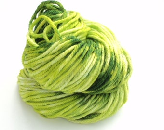 Grass, Hand Dyed, Hand Painted, Bulky, Yarn