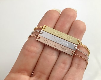 Roman Numeral Date Necklace - Personalized Date Necklace - Date Necklace Gift - Custom Jewelry Bar - Gift for her