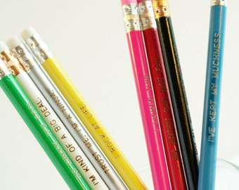 Pencil gift set - choose your phrase