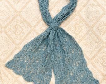 Knitting Pattern Lace  FrostFire Scarf  (PDF pattern)